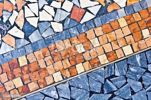 Multi color marble mosaic floor