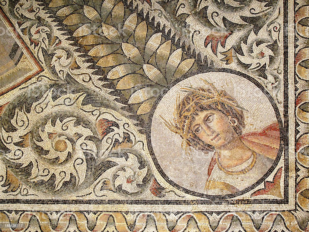 Roman Mosaic July stock photo