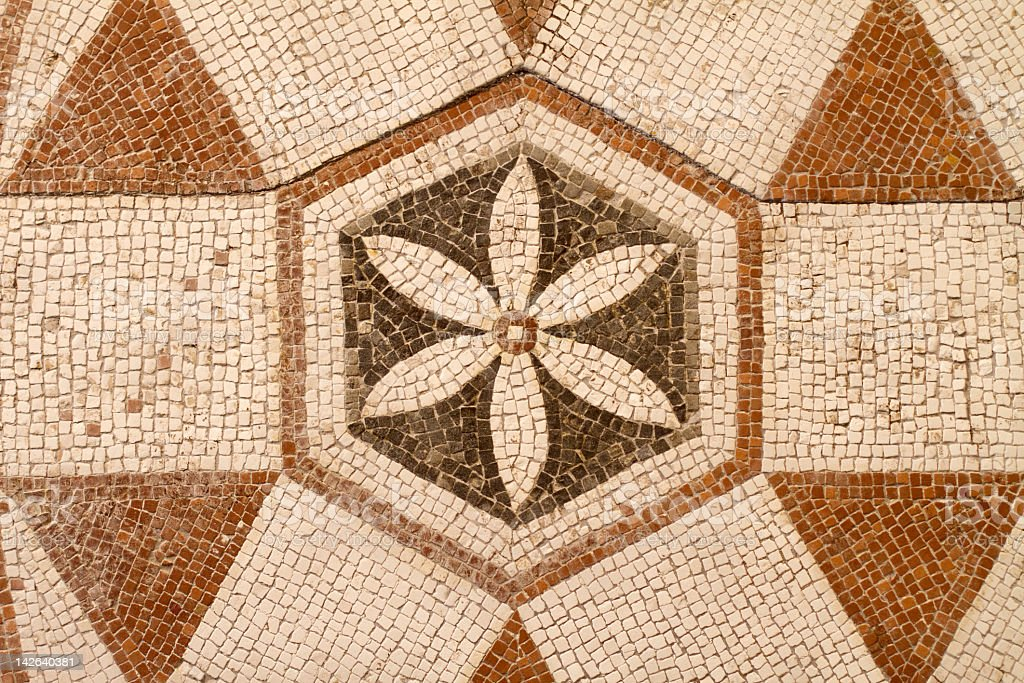 Roman Mosaic Pavement Pattern - Stock image .
