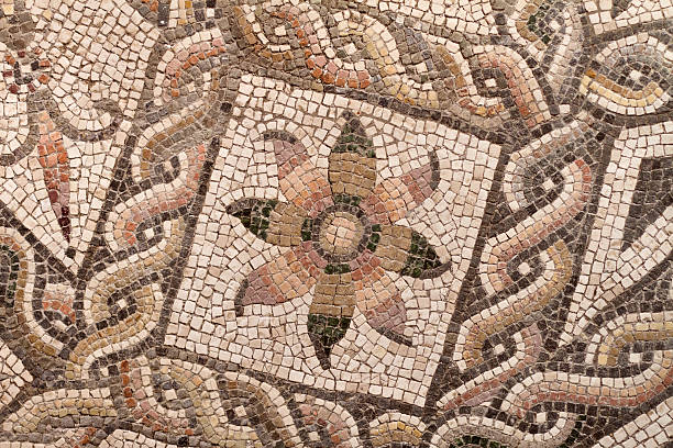 Roman Mosaic Pavement Pattern Typical Roman mosaic floor pavement patternROME S.P.Q.R. Lightbox: tuff stock pictures, royalty-free photos & images