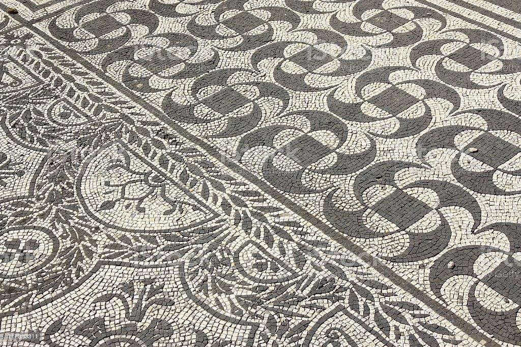 Roman mosaics in Italy royalty-free stock photo