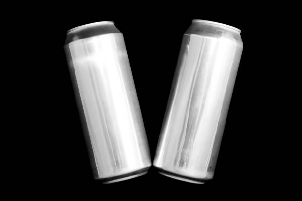 Roman numeral 5. Made of aluminum cans on a black background Isolated Number Five. Numbering stock photo