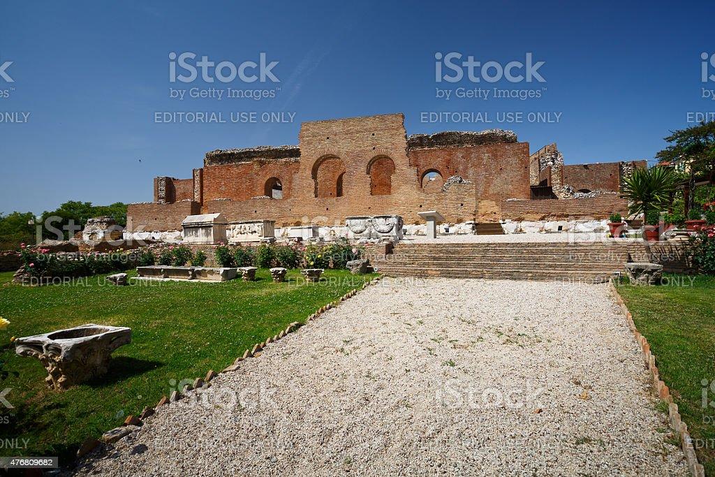 Roman Odeon. stock photo