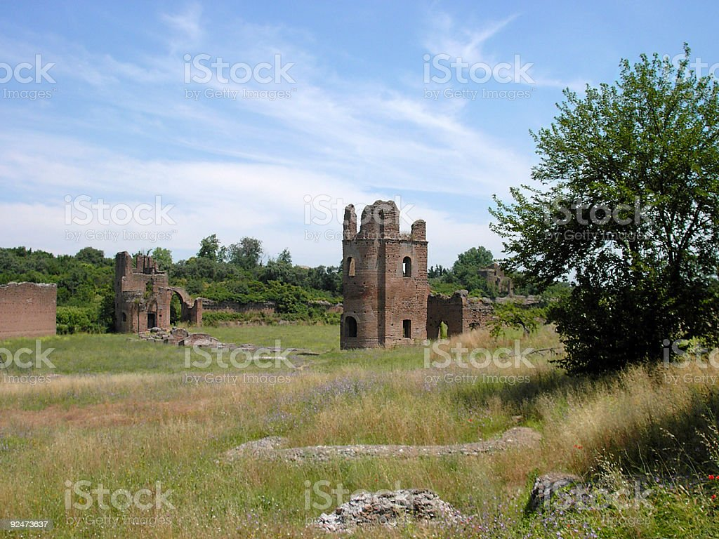Roman open country royalty-free stock photo