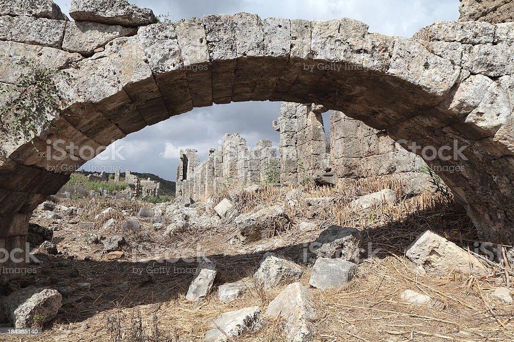 Roman Palaestra, Perge, Turkey royalty-free stock photo