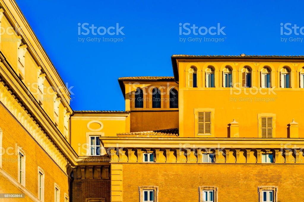 Roman Palazzo Facade, Rome, Italy stock photo