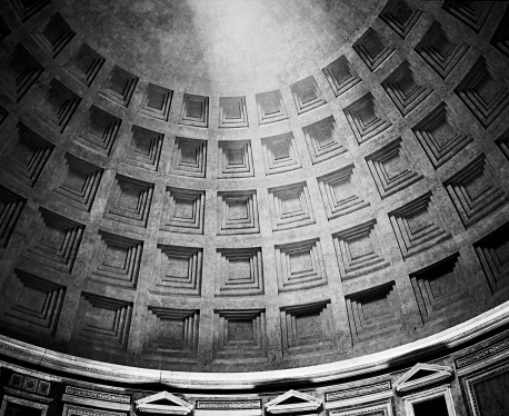 Roman Pantheon Dome With Light