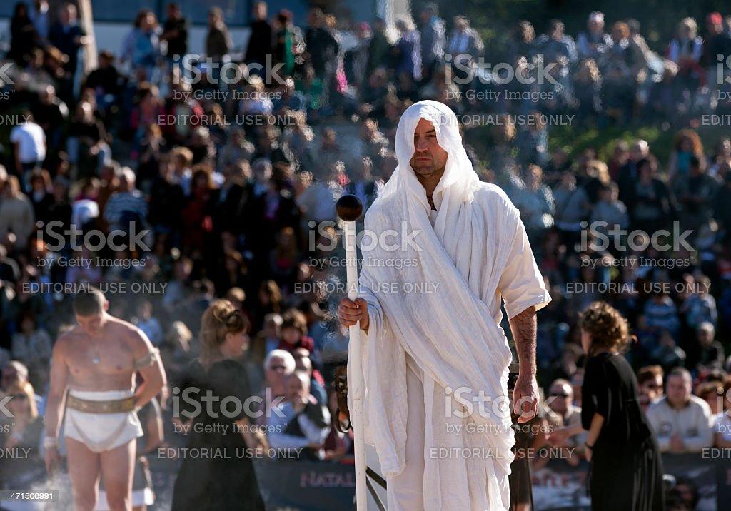 Roman Priest stock photo