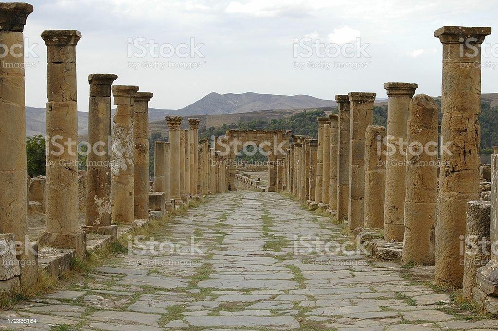 Roman Road In Algeria royalty-free stock photo
