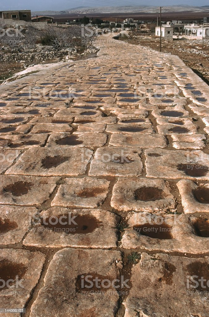Roman road Syria stock photo
