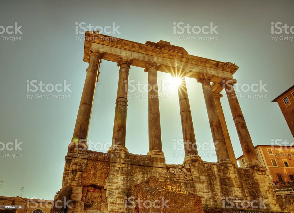 Roman ruin royalty-free stock photo