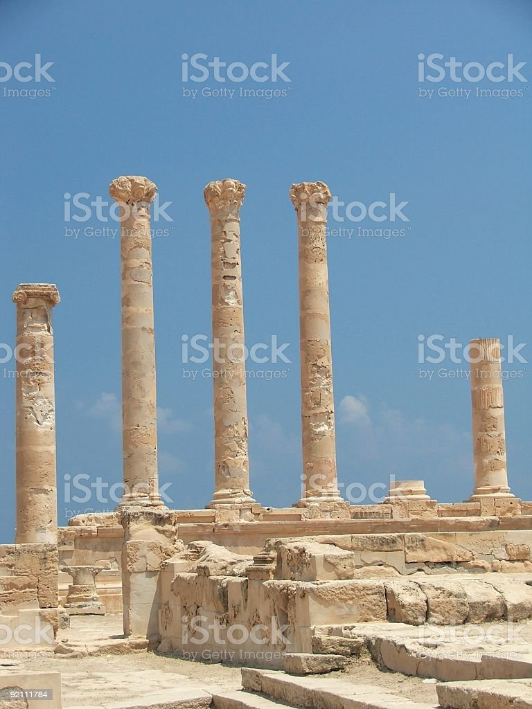 Roman Ruines stock photo