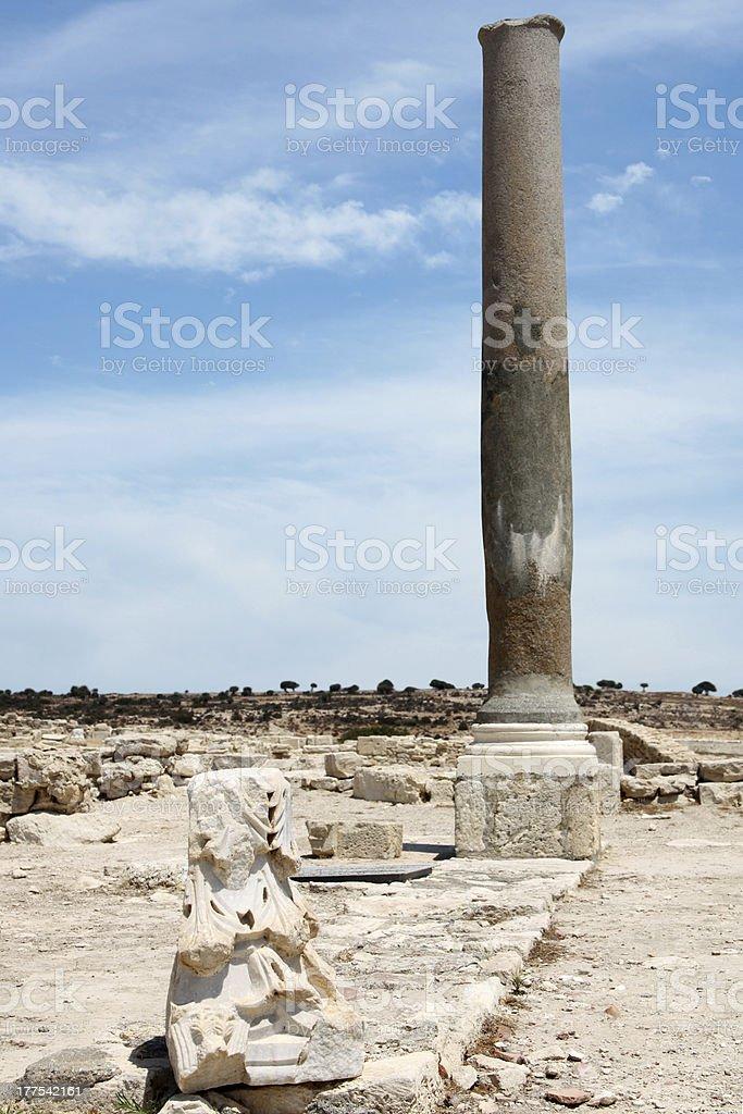Roman Ruins at Kourion, Cyprus stock photo
