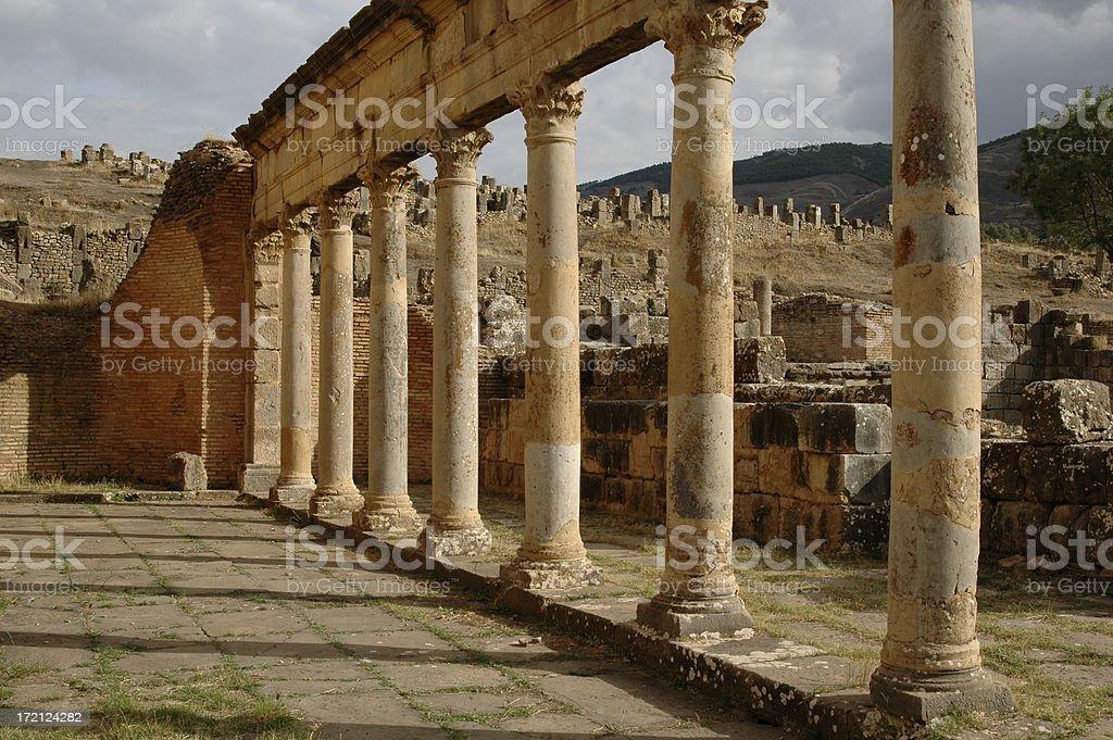 Roman Ruins In Algeria. royalty-free stock photo