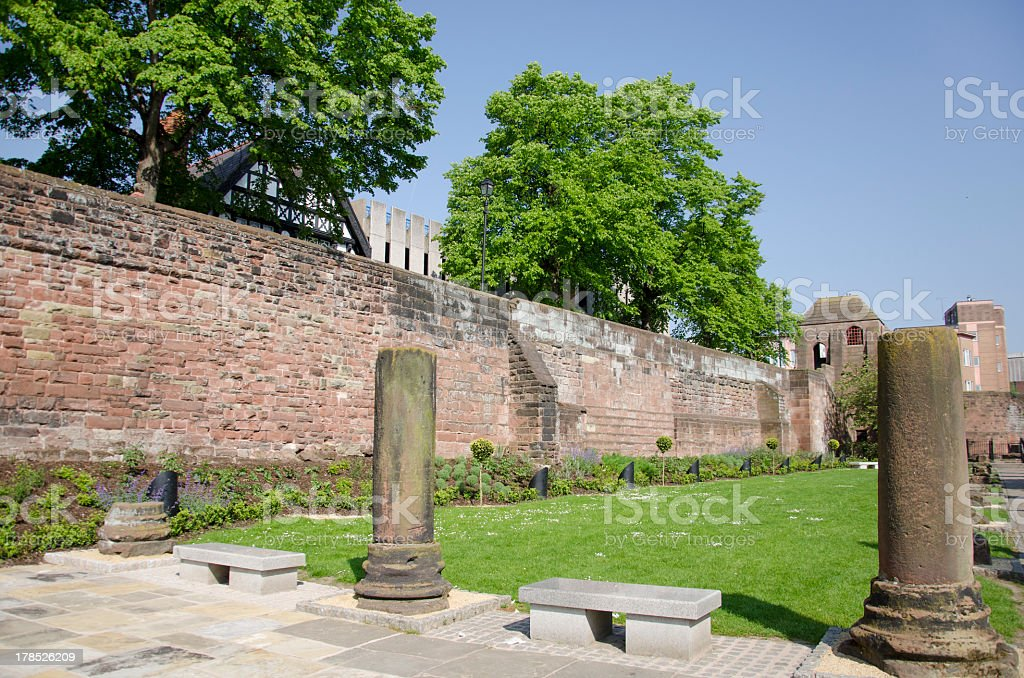 Roman Ruins in English City of Chester royalty-free stock photo