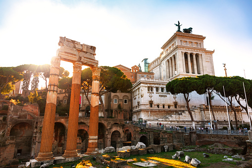 Roman ruins in Rome, Forum, Altar of the Fatherland