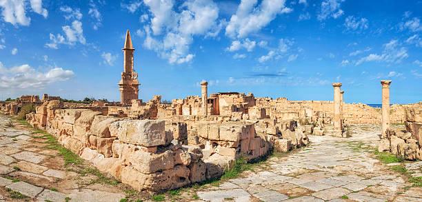 Roman ruins of Sabratha, Libya, Tripolitania stock photo