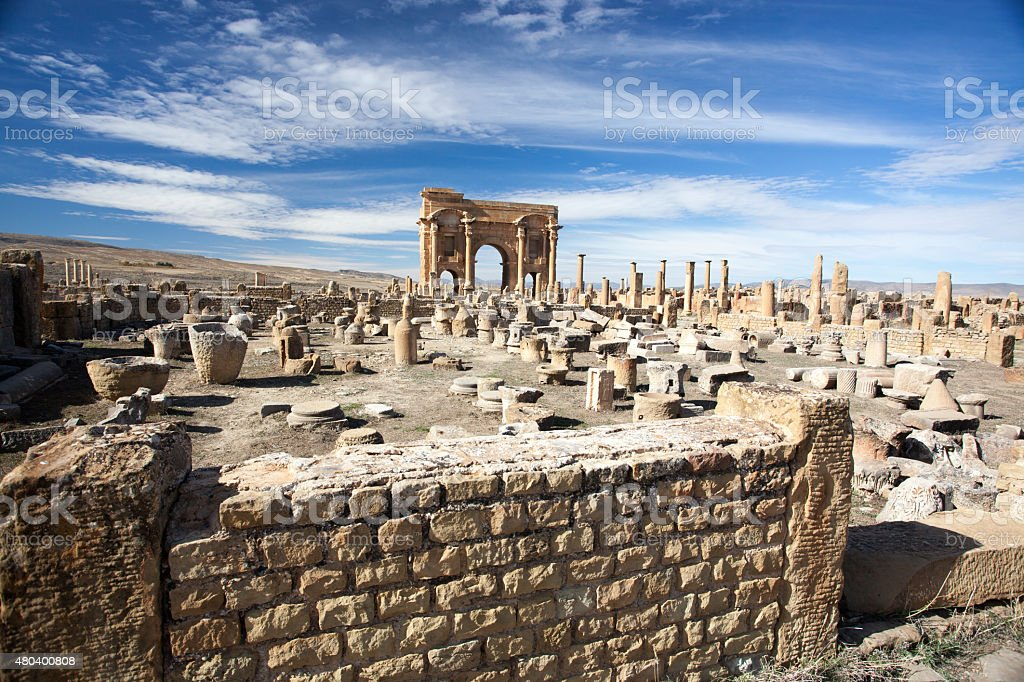 Ruines romaines de Timgad en Algérie - Photo