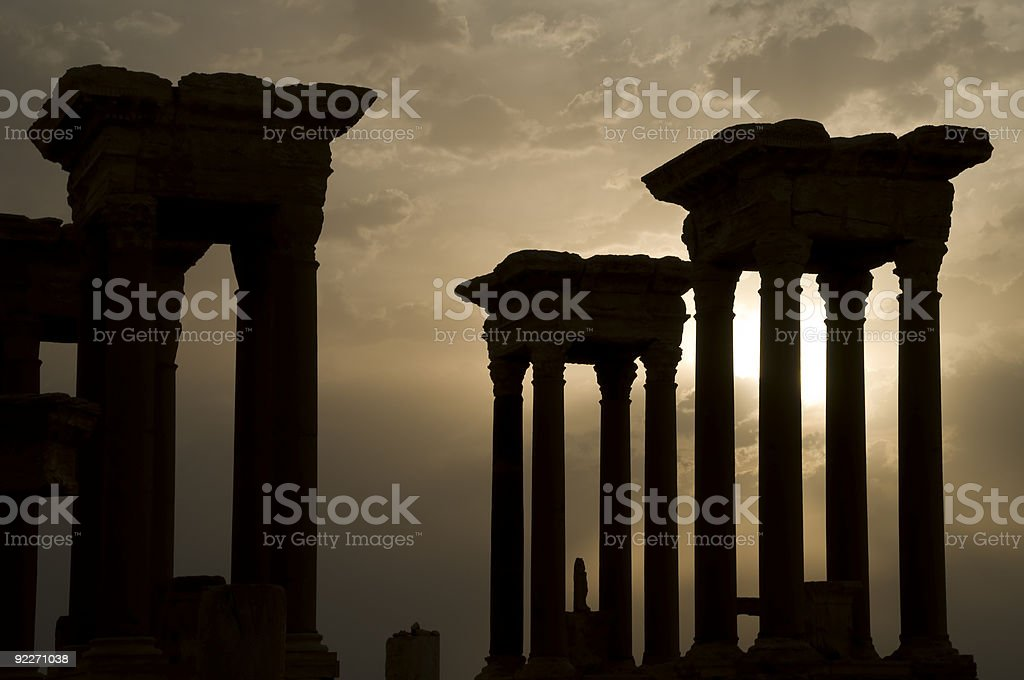 roman ruins, Palmyra stock photo