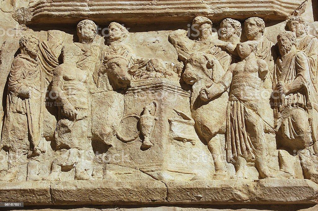 Roman Sacrifice frieze royalty-free stock photo