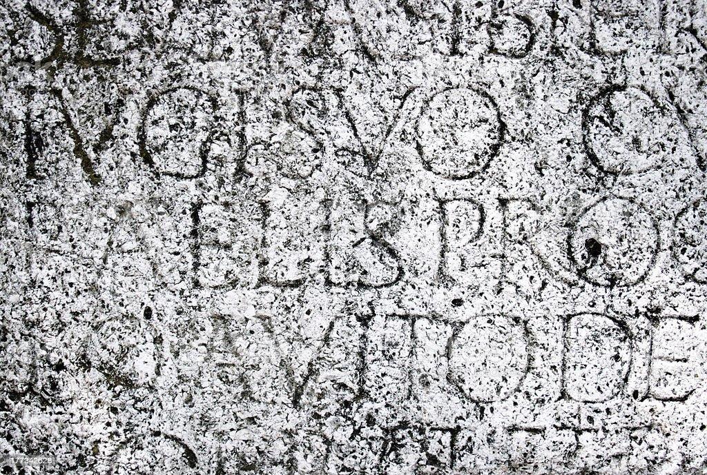 Roman script royalty-free stock photo