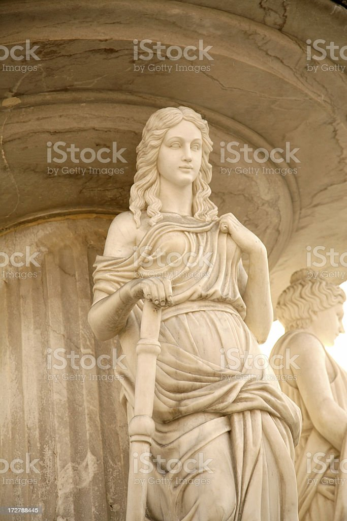 Roman Sculpture (woman) royalty-free stock photo