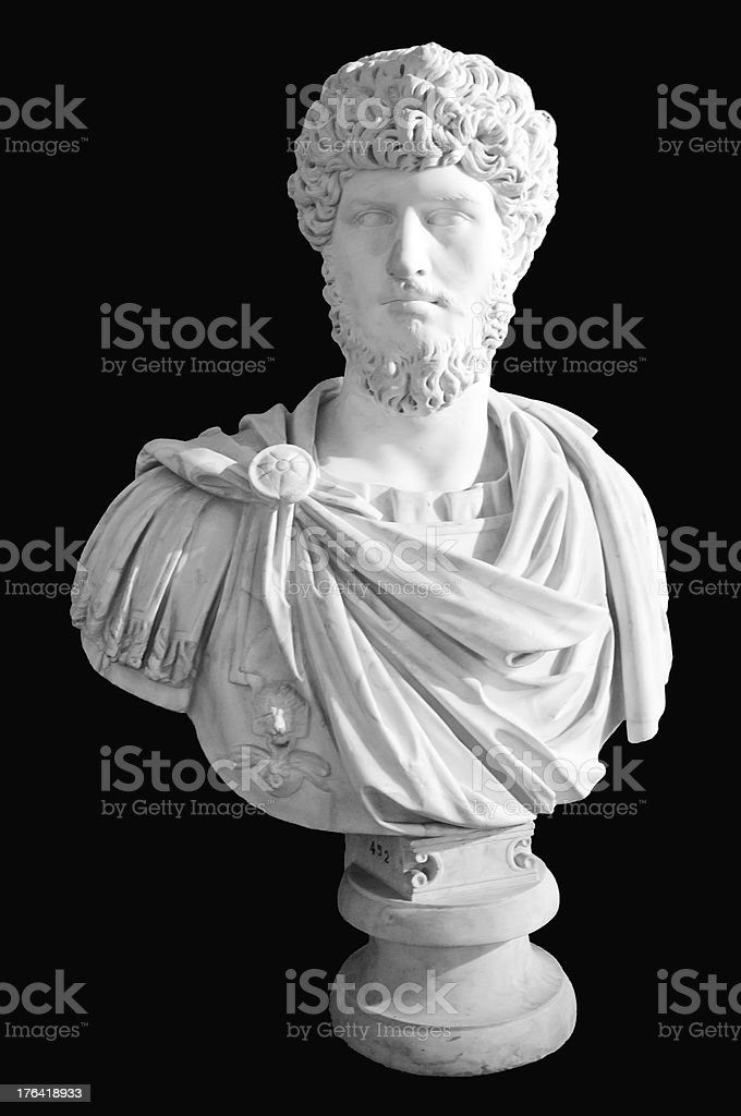 Roman sculpture stock photo