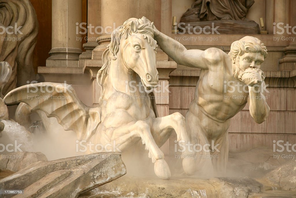 Roman Sculpture with horse royalty-free stock photo