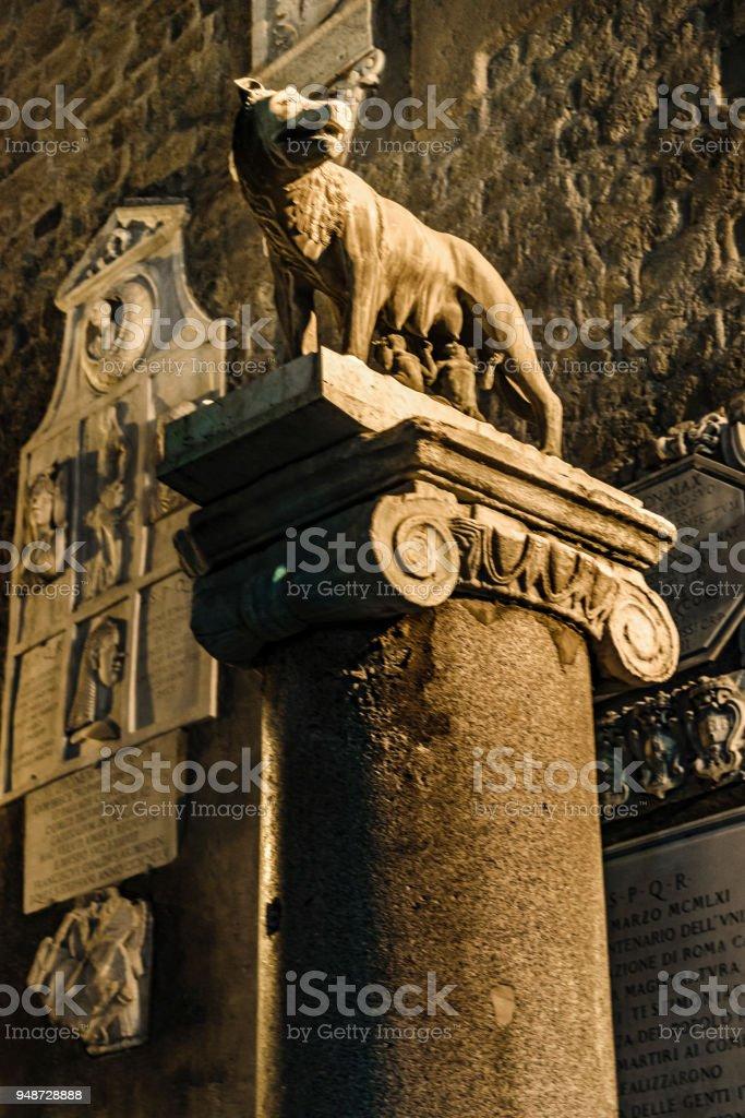 Roman She-Wolf Sculpture, Rome, Italy stock photo