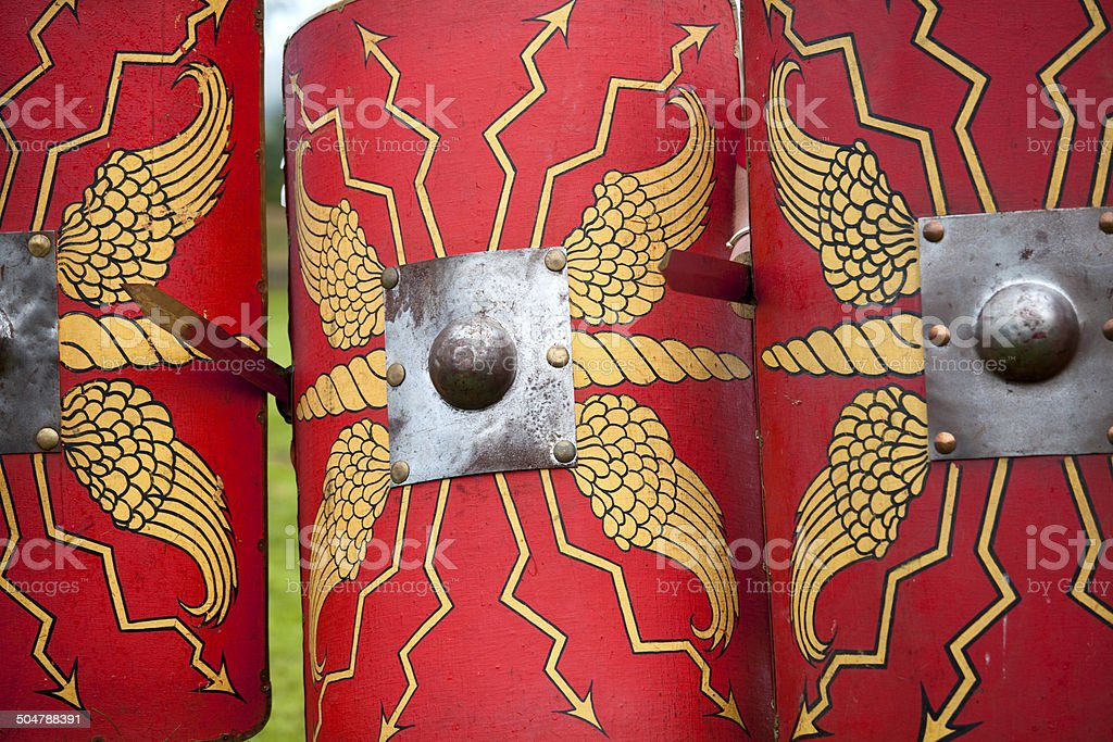 Roman Shields And Swords Stock Photo - Download Image Now