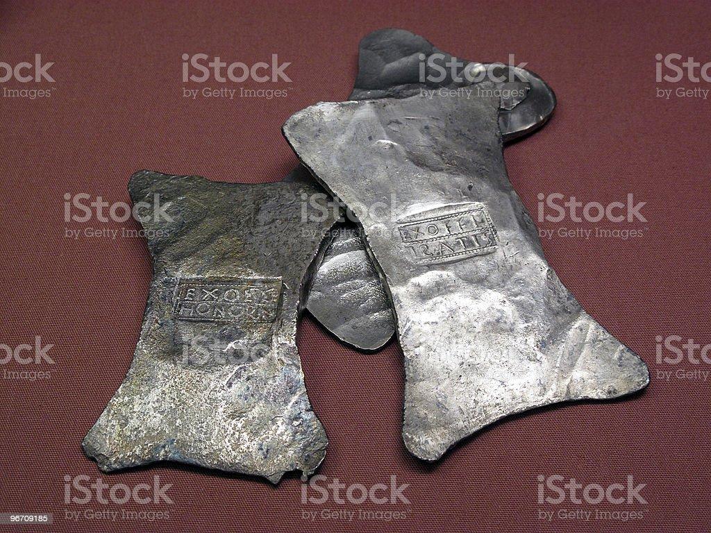 Roman Silver Ingots stock photo
