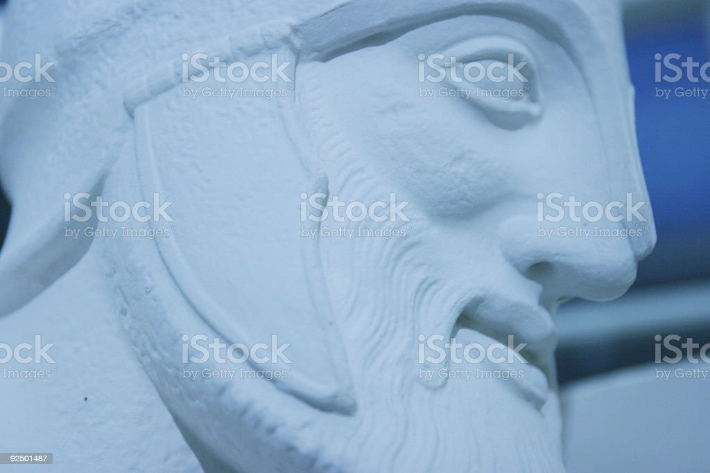 Roman soldier close up on statue royalty-free stock photo