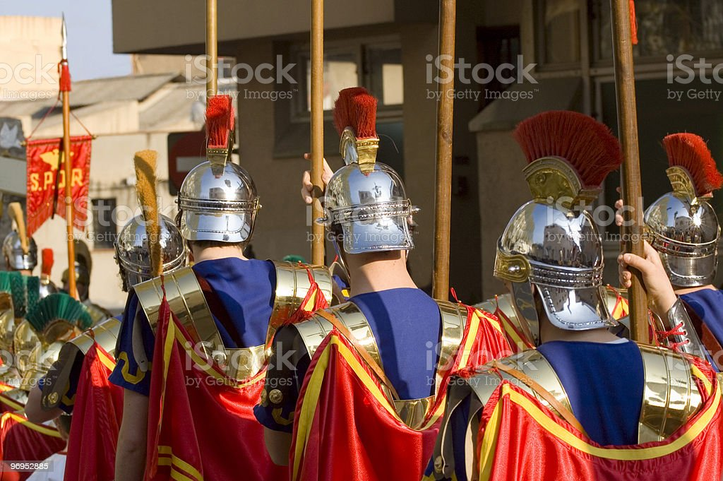 Roman Soldiers Parade royalty-free stock photo