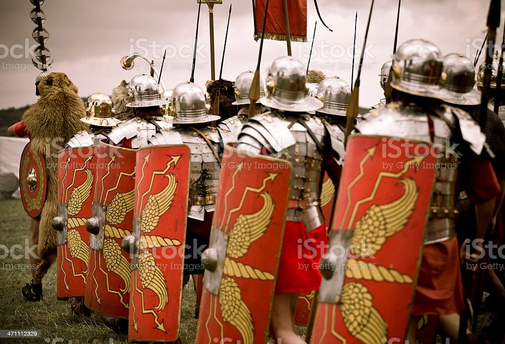 Roman Soldiers stock photo