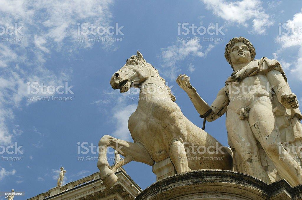 Roman statue in Rome stock photo