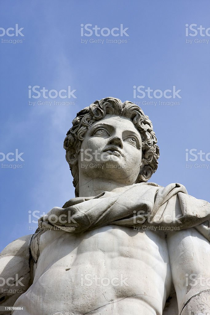 Roman statue in the Blue Sky royalty-free stock photo