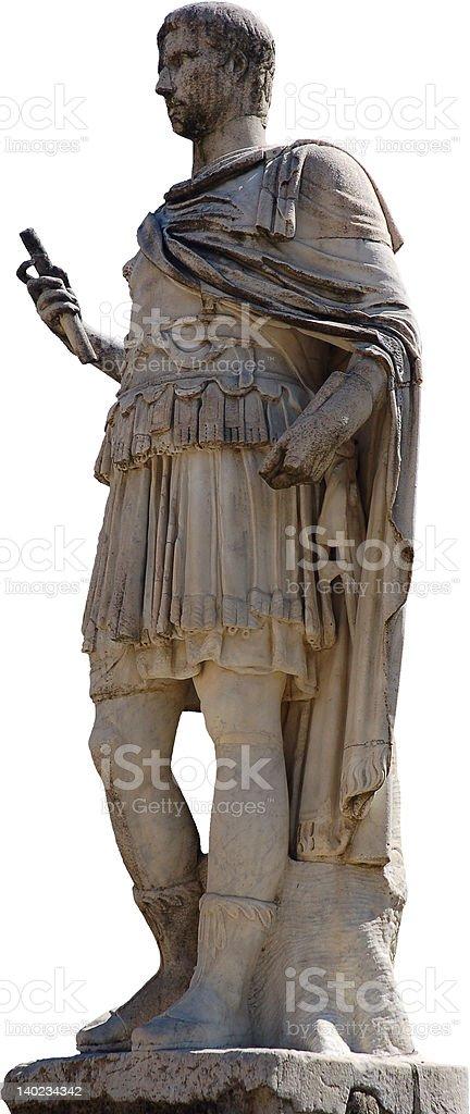 Roman statue, isolated royalty-free stock photo