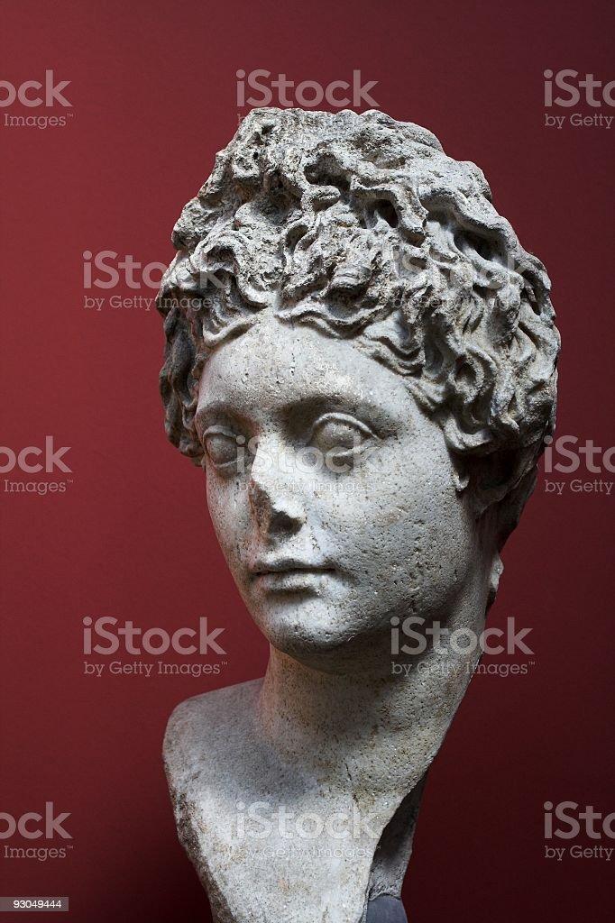 Roman statue of a woman. royalty-free stock photo