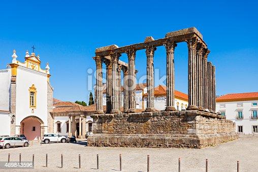istock Roman Temple, Evora 469843596