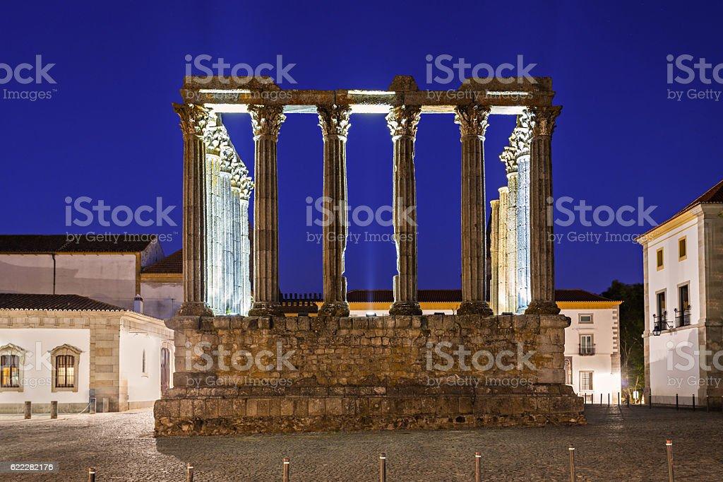 Roman Temple, Evora stock photo