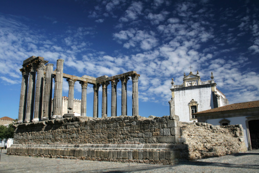 Roman temple in the town of