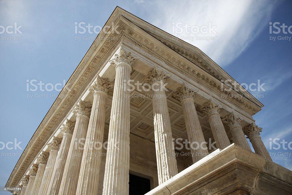 Roman temple, Nimes, France stock photo