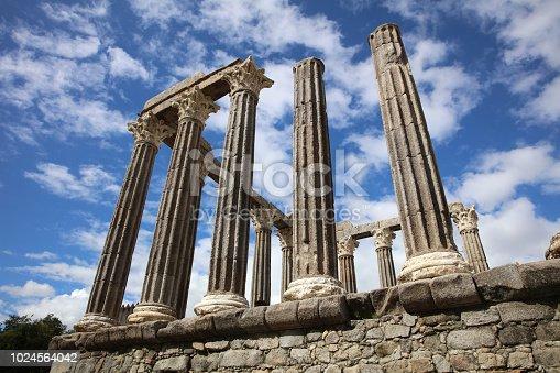 istock Roman Temple of Diana in Evora. Alentejo. Portugal 1024564042