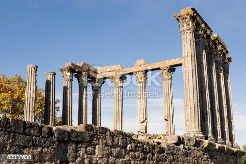 istock Roman Temple of Diana in Evora 183322533