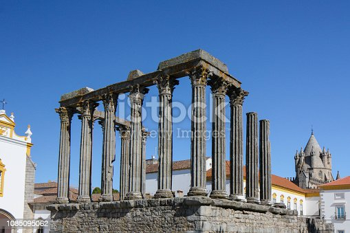 istock Roman Temple of Evora 1085095062