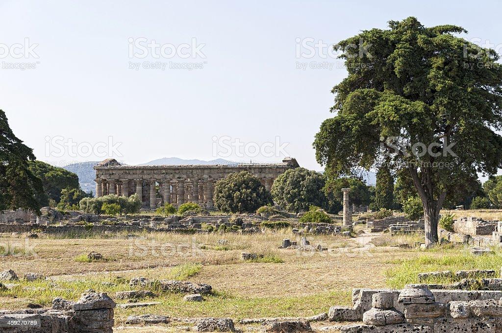 Roman temple royalty-free stock photo