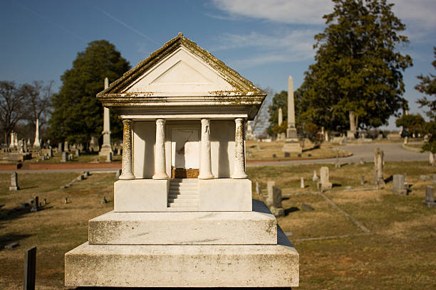 Roman Temple Tombstone stock photo