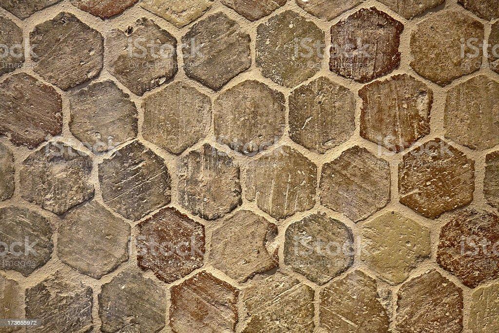 Roman Terracotta Tiles stock photo