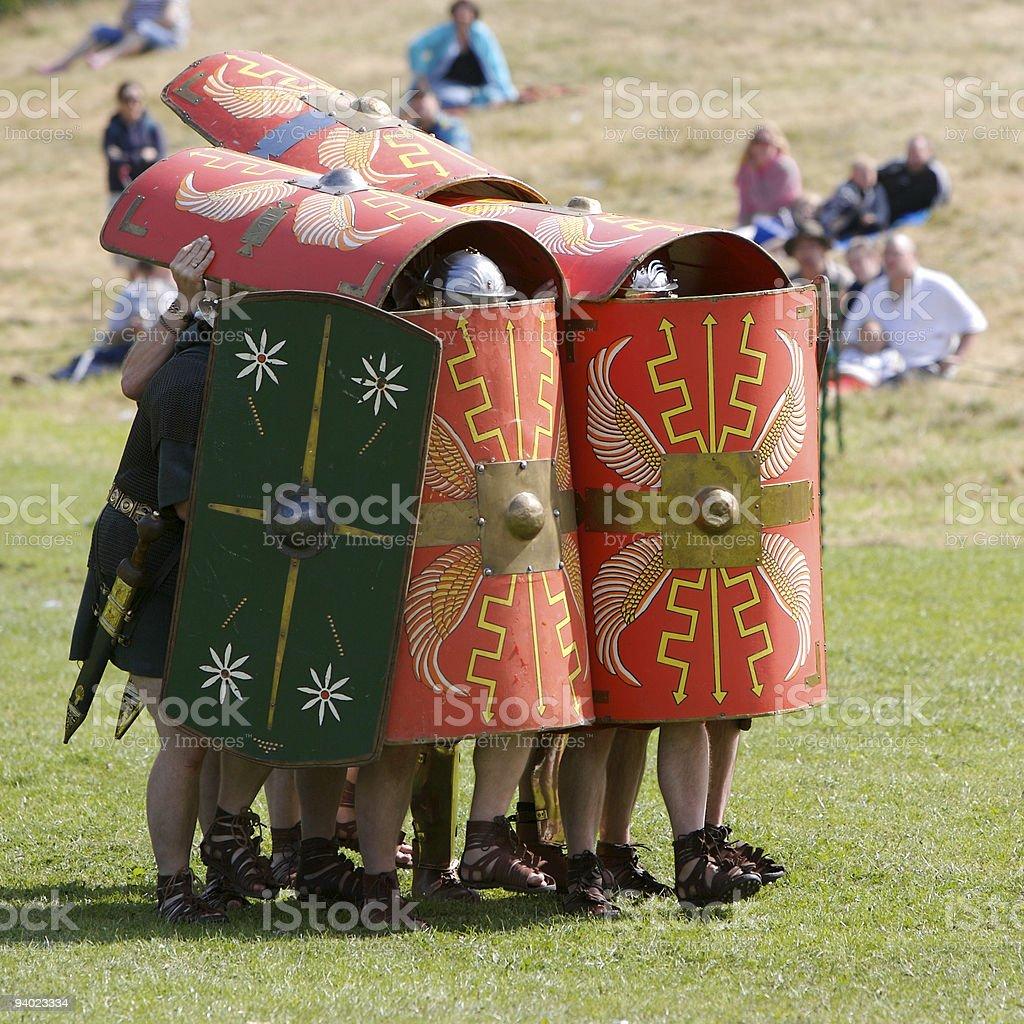 Roman Testudo (Tortoise) stock photo