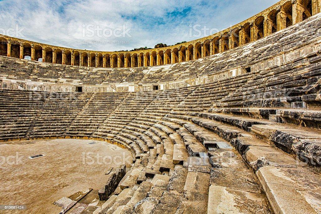 Roman Theater of Aspendos stok fotoğrafı